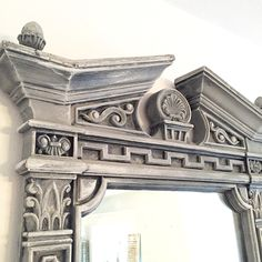 Restoration Hardware Style Mirror French Provincial Mirror  Ornate Large Bedroom Dressing Mirror