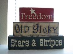 Old Glory block decor  :D