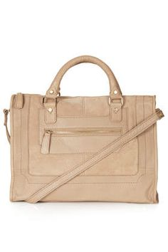Suede and Leather Holdall Bag