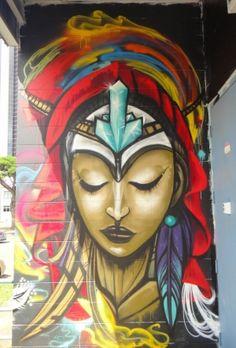 #leomalaya #powwowhawaii #lisadorenfest #streetart