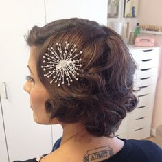 Vintage Bridal Hairstyle For Short Hair
