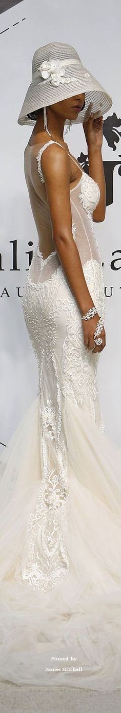 Galia Lahav Collection- so gorgeous Beautiful Bride, Beautiful Dresses, Bridal Gowns, Wedding Gowns, Derby Attire, Fairytale Gown, White Fashion, Women's Fashion, Girl With Hat