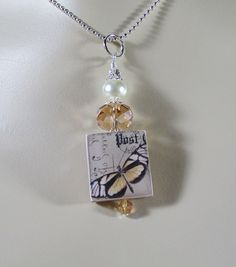 Scrabble Jewelry  Pendant  Butterfly 5 with by MaDGreenCreations, $8.95