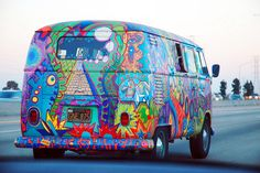 Hippy hippie van - when I lived in Kentucky, I would see these Vans and also see groups of hippies walking around on our street from time to time.