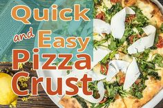 Quick And Easy Pizza Crust This is a great recipe when you don't want to wait for the dough to rise. You just mix it and allow it to rest for 5 minutes and Great Recipes, Rest, Pizza, Baking, Purpose, Stone, Lifestyle, Food, Bread Making