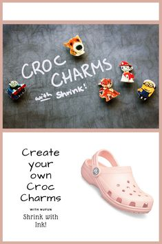 Have your kids design and color their own croc charms using NuFun Shrink with Ink!