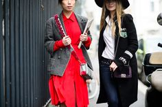 On the Streets of Milan Fashion Week Fall 2015 - Milan Fashion Week Fall 2015 Street Style Day 2-Wmag