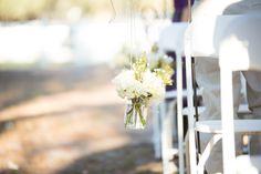 #Aisle #aisleflowers #aisledecor #Rusticwedding #rusticdecor #FloridaWedding #outdoor #ceremonydecorations   Florida wedding aisle decor