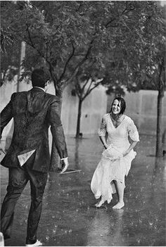 I love you… I love the dress to, however with you in the rain? The best feeling ever…