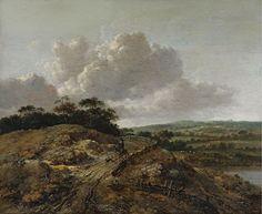 Jan Wijnants - Landschap met ruiter en hond