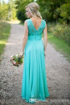 ab08776de5b1 2017 Cheap Country Turquoise Mint Bridesmaid Dresses Illusion Neck Lace  Beaded Top Chiffon Long Plus Size Maid Of Honor Wedding Party Dress  Bridesmaid ...