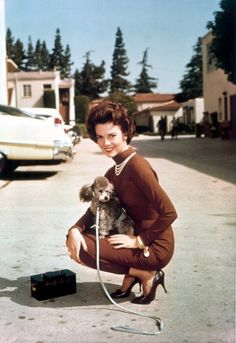 Natalie Wood and pooch.