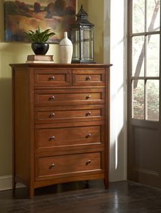Grant Park Wood Three Drawer Nightstand in Pecan by A-America ...