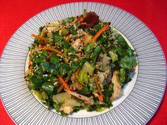 Chinese Barbeque Chicken Salad (手絲燒烤鷄沙律, Sau2 Si1 Siu1 Haau1 Gai1 Saa1 Leot6)
