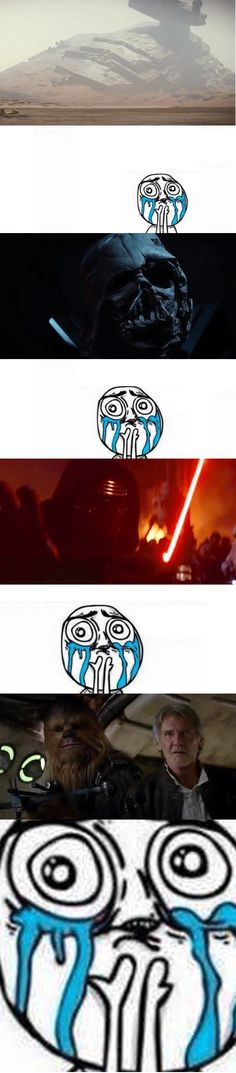 My reaction to the Star Wars: The Force Awakens trailer