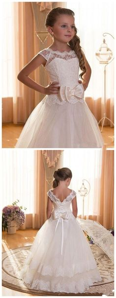 Flower Girls Dresses First Communion Dresses for Weddings by ainiprom, $76.99 USD