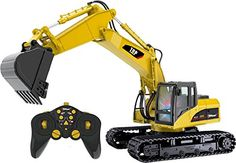 Top Race® 15 Channel Professional Heavy Duty Metal Series Remote Control Excavator Tractor (TR-211) Multi functional tractor vehicle, works exactly like a real excavator 1 step before hydraulic excavator, ability and power to really dig with its heavy steel shovel. 680° Degree Cab Rotation, 3 separate motors on digging arm to lift up and down to its full extent. . . . read more . . . pls repin