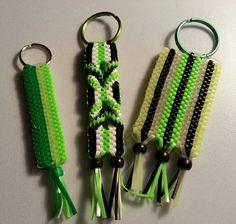 Scoubidou;  boondoggle; plastic craft lace; key chains; rexlace; diy; gimp