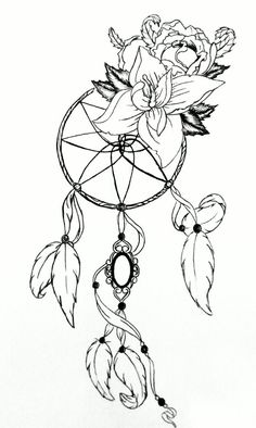 1000 images about filtro sonhos on pinterest dream for Dreamcatcher tattoo template