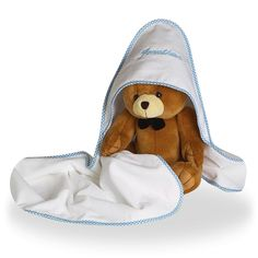 Hooded Towel and a Plush Bear for Baby Boy Personalized – Trendly Shares Unique Baby Boy Gifts, Baby Gifts, Baby Boy Gift Baskets, Baby Towel, New Baby Boys, Baby On The Way, Toddler Outfits, New Moms, Diaper Bag
