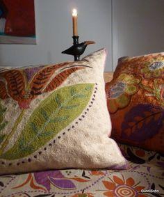 Gudrun's cushions at the fireside