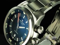 Maurice Lacroix Pontos S Diver Watch, Stainless steel, Day, Black Premium Brands, Omega Watch, Chronograph, Watches For Men, Stainless Steel, Accessories, Shopping, Ebay, Black