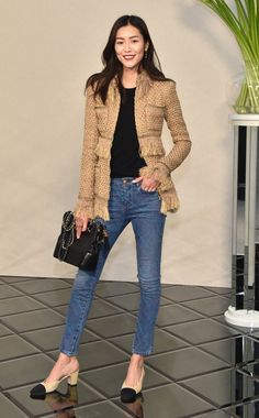 Liu Wen attends the Chanel  Haute Couture Spring Summer 2017 show as part of Paris Fashion Week on January 24, 2017 in Paris, France.
