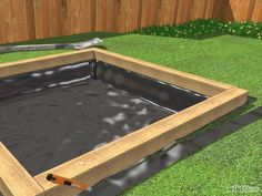 Cats Toys Ideas - Build a Sandbox - Ideal toys for small cats Kids Outdoor Play, Outdoor Play Areas, Kids Play Area, Backyard For Kids, Backyard Projects, Outdoor Projects, Build A Sandbox, Kids Sandbox, Sandbox Diy