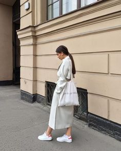 m File | white trench coat