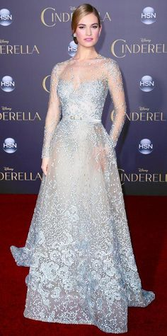 Look of the Day - March 02, 2015 - Lily James in Elie Saab Haute Couture from #InStyle