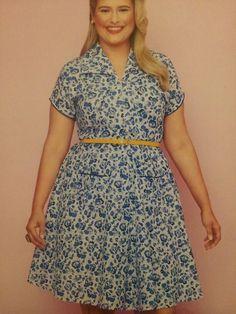 Gertie sews vintage casual - Zip front dress