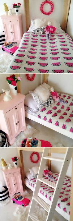 Watermelon bedding for a little girl room