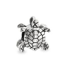 Sterling Silver Sea Turtle Nautical Animal Bead for European Charm Bracelets sLTCcIpbe