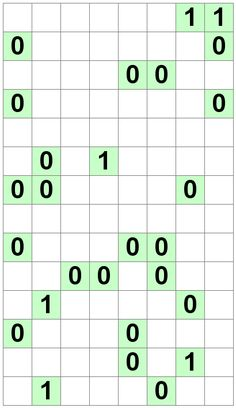 Number Logic Puzzles: 23650 - Binary size 4