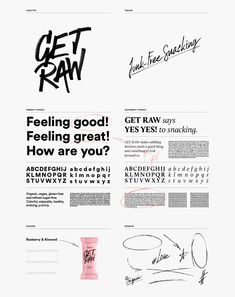 GET RAW - Rebrand on Behance