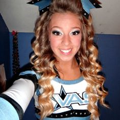 Cheer hair!! Absolutely love!!!