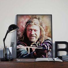 Ned Stark  Game of Thrones Art Print Poster  by BlackSailsUK