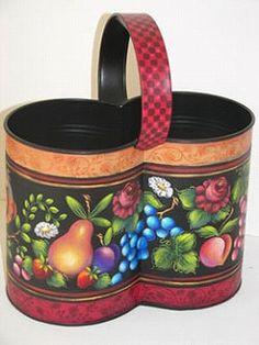 Folk Art Bucket