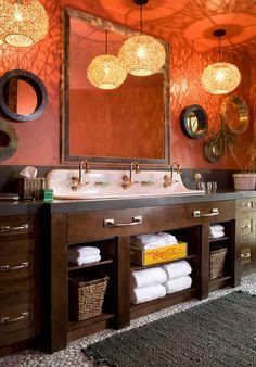 Rustic Orange Paint burnt orange paint color | the color orange in interior design