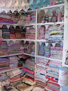 If I display my fabrics, my husband will realise just how many I actually have....looks gorgeous though.