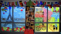 Bulletin Boards to Remember-I love the window concept!