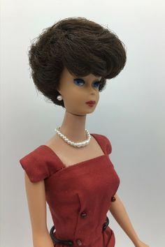 VINTAGE Barbie KEN PAIR BROWN DRESS SHOES MARKED JAPAN EARLY 1960S COMPLETER