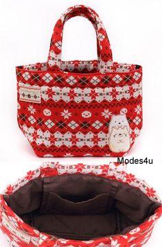 2d2e8a17140 red Norwegian Christmas San-X Sumikkogurashi shy animals handbag. Cute Tote  Bags ...