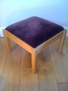 Traditionally made drop in seat with beech footstool