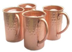 Drinkware Accessories Hammered Copper Moscow Mule Mugs / Cups Capacity-16 Ounce. #Visvabhavanah