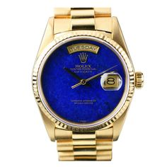 """ROLEX Day-Date """"Presidential"""" Lapis Dial Yellow Gold Ref 18038"""