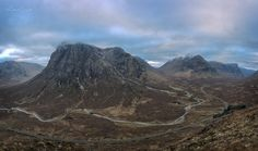 The view over Buachaille Etive Mor and down through Glen Coe from high on Beinn a Chruilaste on Sunday morning at dawn. A tough climb but what a reward for the views! Credit: Michael Bryant - Scottish Photographer