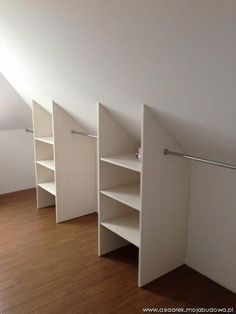 "Determine even more relevant information on ""laundry room storage diy cabinets"". Browse through our web site. Attic Bedroom Closets, Attic Bedroom Designs, Attic Closet, Upstairs Bedroom, Closet Designs, Closet Bedroom, Attic Bedroom Storage, Dormer Bedroom, Tiny Bedrooms"