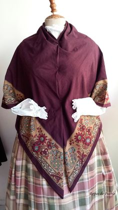Indiana antigua estampada color berengena Indiana, Cover Up, Sewing Ideas, Dresses, Travel, Fashion, Folklore, Aprons, Blouses