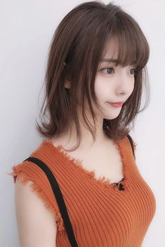 Pin by Pinky Wang on Faces in 2019 Beautiful Japanese Girl, Beautiful Asian Girls, Cute Asian Girls, Cute Girls, Kawaii Hairstyles, Lob Hairstyle, Girl Haircuts, Model Pictures, Cute Woman